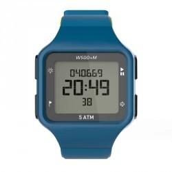 Montre digitale sport homme W500+ M SWIP timer bleu vert