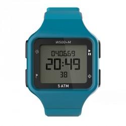 Montre digitale sport homme W500+ M SWIP timer bleue