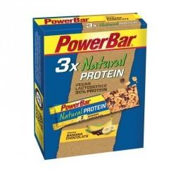 Barre protéinée végétale NATURAL PROTEIN chocolat banane 3x40g