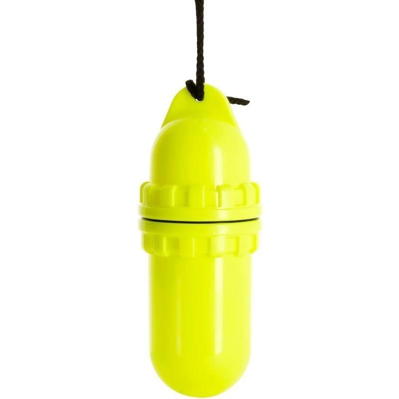 Boite étanche en forme d'oeuf médium jaune