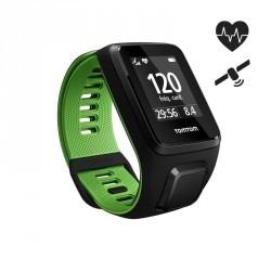 Montre de sport GPS Runner 3 cardio au poignet noir/vert (taille S)