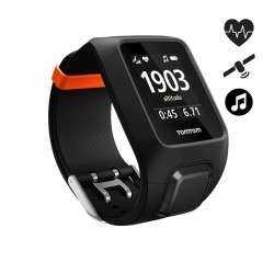 Montre de sport GPS Adventurer cardio + music au poignet noir/orange (taille L)