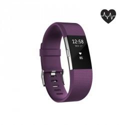 Bracelet d'activité Charge 2 cardio au poignet prune (taille S)