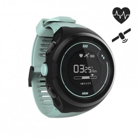 Montre cardio poignet GPS ONMOVE 500 connectée NOIR VERT