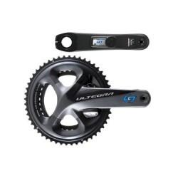 Capteur de Puissance (Pédalier) Stages Cycling Stages Power LR Shimano Ultegra R8000 53/39 Dents Noir