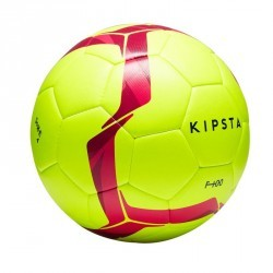 Ballon de football F100 Hybride taille 4 jaune/rose