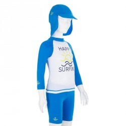 KIT casquette corsaire tee shirt anti UV surf Bébé bleu