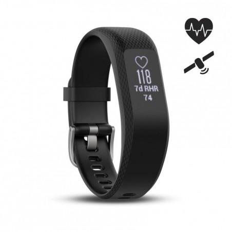 Bracelet d'activité Vivosmart 3 cardio au poignet noir (S/M)