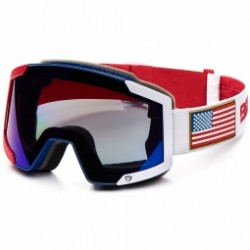 Masque De Ski Briko Lava 7.6 2 Lenses Ussa Red Blue White
