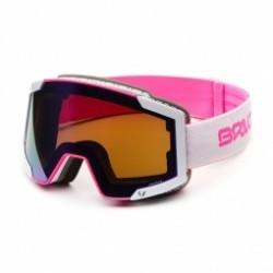 Masque De Ski Briko Lava 7.6 2 Lenses Matt Pink White