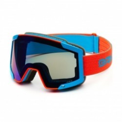 Masque De Ski Briko Lava 7.6 2 Lenses Orange Blue