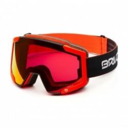 Masque De Ski Briko Lava 7.6 2 Lenses Black Orange