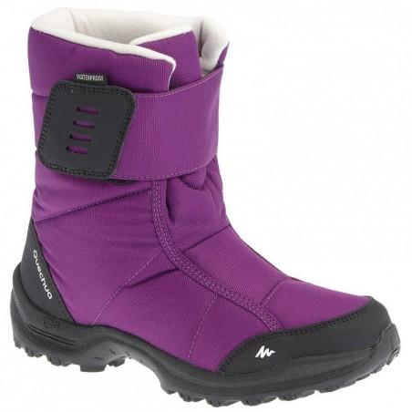 Bottes de randonnée neige Enfant SH500 chaudes et imperméables Violet