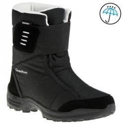 Bottes de randonnée neige Enfant SH500 chaudes et imperméables Noir