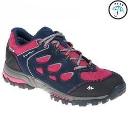 Chaussures de randonnée montagne femme Forclaz Flex 3 imperméables rose