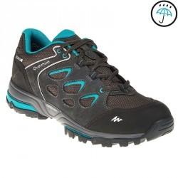 Chaussures de randonnée montagne femme Forclaz Flex 3 imperméables gris bleu