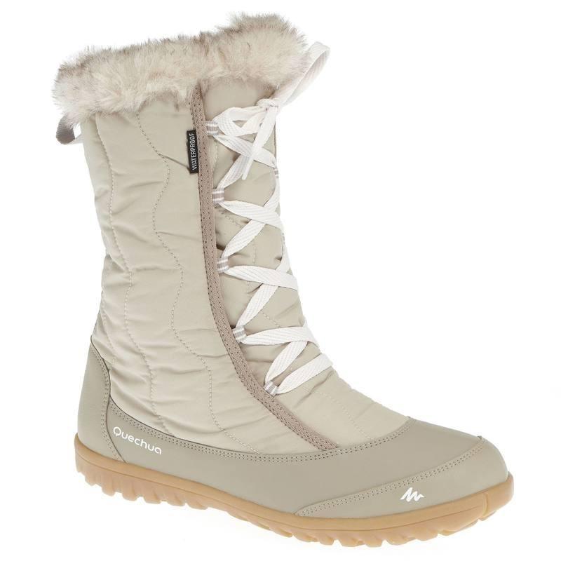 Bottes de randonnée neige femme SH900 chaudes et imperméables Beige , avis  / test