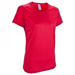 Tee-Shirt manches courtes randonnée Techfresh 50 femme rose