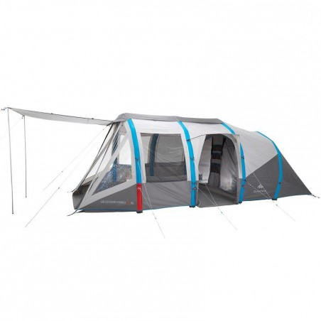 Tente de camping Air seconds family 6.3xl | 6 personnes grise
