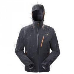Veste pluie imperméable randonnée homme Forclaz 400 Noir