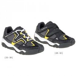 Chaussures de randonnée enfant Crossrock noir/jaune