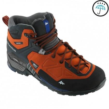 Chaussure de randonnée montagne Homme Forclaz 700 MID imperméables brick