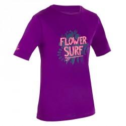 water tee shirt anti uv surf manches courtes enfant violet