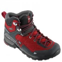 Chaussure de randonnée montagne Forclaz 700 Mid WTP Rouge