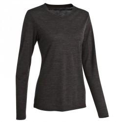 T-shirt manches longues trekking Techwool 155 laine femme gris