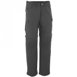 Pantalon modulable Trekking forclaz 100 homme gris foncé