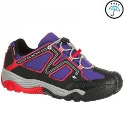 Chaussures de randonnée enfant Crossrock imperméables violet/rose