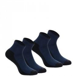 2 paires de chaussettes de randonnée nature tiges mid adulte Arpenaz 50 bleu