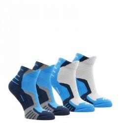 2 paires de chaussettes de randonnée montagne tige mid enfant crossocks bleu