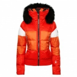Veste De Ski Toni Sailer Franka Fur Fire Orange