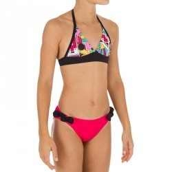 Maillot  de bain 2 pièces fille forme foulard NDE RED