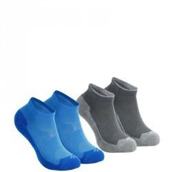 2 paires de chaussettes de randonnée nature tiges mid enfant Arpenaz 50 bleu