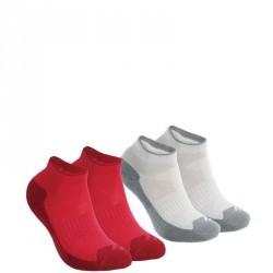 2 paires de chaussettes de randonnée nature tiges mid enfant Arpenaz 50 Rose.
