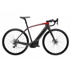 Vélo de Route Électrique Trek Domane + Sram Force 1 11V 2019 Noir / Rouge