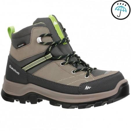 Chaussures de randonnée enfant Forclaz 500 Mid imperméable marron
