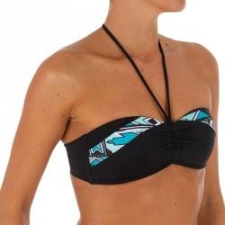 Haut de maillot de bain femme bandeau avec coques fixes LAETI ISIKETU