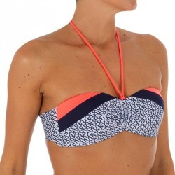 Haut de maillot de bain femme bandeau avec coques fixes LAETI BAWA