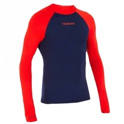 tee shirt anti uv surf top 100 manches longues homme bleu orange