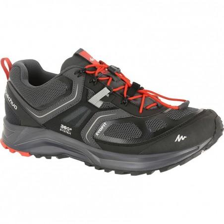 Chaussures de randonnée rapide homme Forclaz 500 Helium noir
