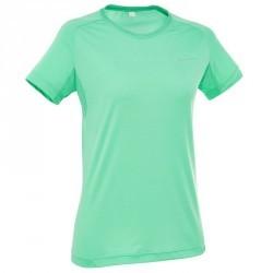 Tee-Shirt manches courtes Randonnée Techfresh 50 femme Vert