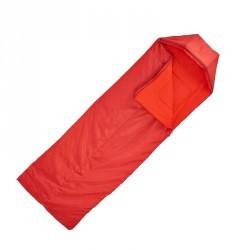 Sac de couchage de bivouac / randonnée / trek FORCLAZ 10° rouge zip gauche