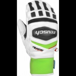 Gants De Ski Racing Reusch Training R-tex Xt Mitten White/neon Green