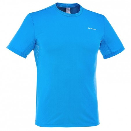 Tee Shirt Manches Courtes Randonnée Tech Frech 50 homme Bleu