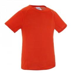 T-Shirt de randonnée garçon Hike 100 rouge