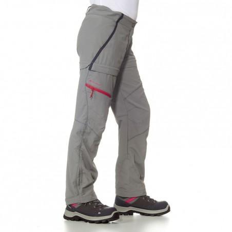 Pantalon de randonnée modulable fille Hike 900 gris