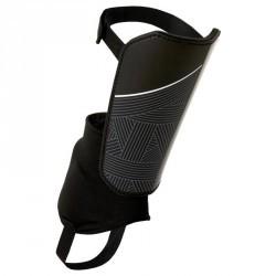Protège-tibias de football avec chevillère détachable adulte F140 noir